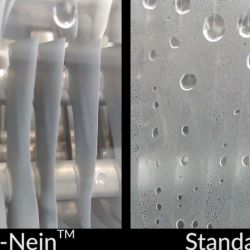 Refrigerator made using Ice-NTM material (Left) vs. Refrigerator made using standard materials (Right)